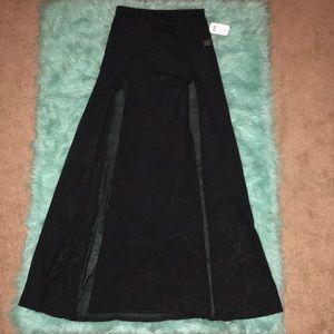 NWT Windsor black sheer swim coverup skirt